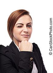 從事工商業的女性, 眨眼