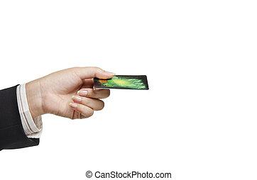 從事工商業的女性, 藏品, 卡片, 信用