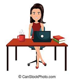 從事工商業的女性, 運作的 辦公室