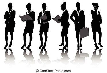 從事工商業的女性, 黑色半面畫像