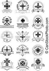 復活節, 假期, 符號, 集合, 由于, 耶穌受難像, 產生雜種