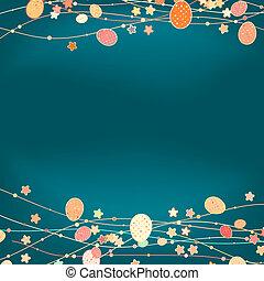 復活節, 卡片, 由于, 模仿, space., eps, 8