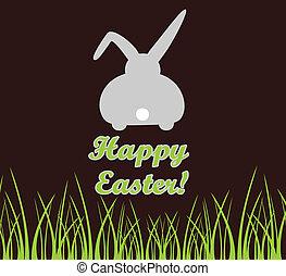 復活節, 卡片, 由于, bunny