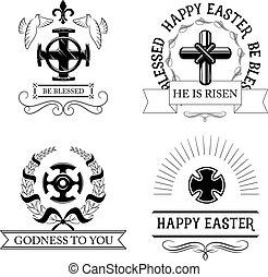 復活節, 產生雜種, 符號, 集合, 由于, 宗教, 耶穌受難像