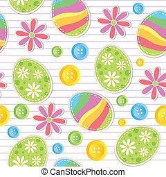 復活節, seamless, 圖案