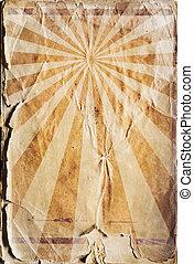 復活, ポスター, レトロ, 背景, 太陽光線, 赤