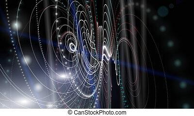 微片, イラスト, ライト, デザイン, 背景, 未来派