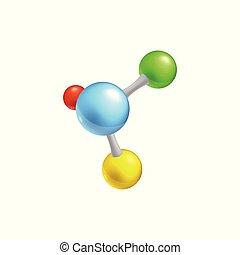 微片, 分子, 鎖, イラスト