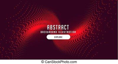 微片, 爆発, 抽象的, 動き, デザイン, 背景, 赤