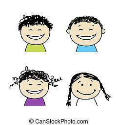 微笑の 人々, デザイン, あなたの, アイコン