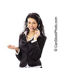 微笑の 女性, かなり, ビジネス