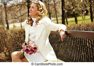 微笑の 女性, 公園