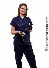 微笑妇女, 护士