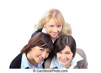 微笑高兴, 商业妇女
