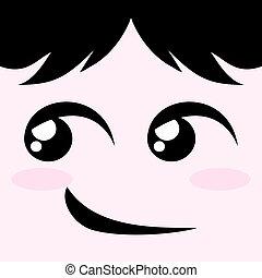 微笑, いたずら好きである, 顔