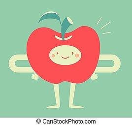 微笑, アップル, 幸せ