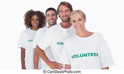 微笑, グループ, ボランティア