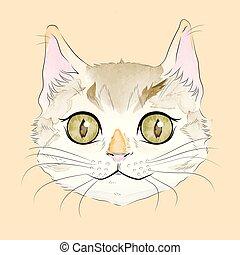 微笑, トラネコ猫