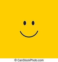 微笑, ベクトル, デザイン, テンプレート, イラスト