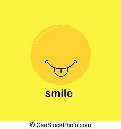 微笑, ベクトル, デザイン, テンプレート