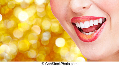 微笑, 以及, 健康, teeth.