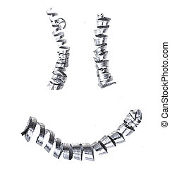 微笑, 作られた, 金属, shavings