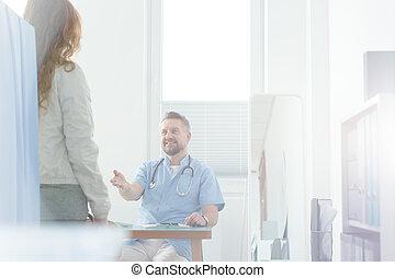 微笑, 全科醫師, 歡迎, 病人