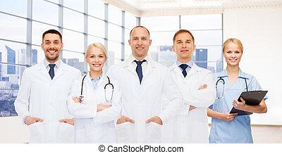 微笑, 剪贴板, 团体, 医生