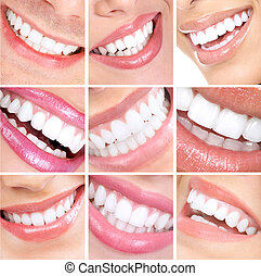 微笑, 同时,, teeth.