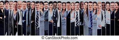 微笑, 团体, 人们。, 商业