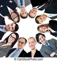 微笑, 团体, 商务人士