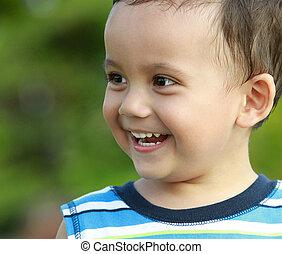 微笑, 子供, 幸せ