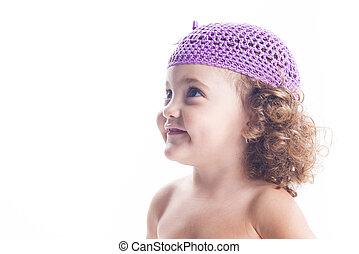微笑, 帽子, 子供