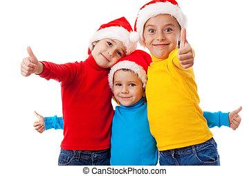 微笑, 帽子, 3, santa, 子供