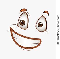 微笑, 幸せ, 漫画, 顔