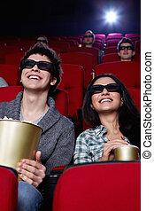 微笑, 恋人, 映画館