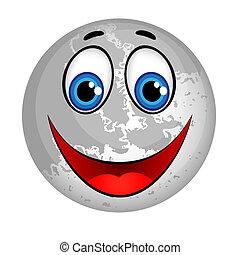 微笑, 惑星, 月