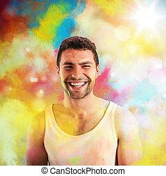 微笑, 有色人種