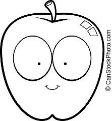 微笑, 漫画, アップル