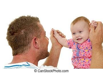 微笑, 父, 赤ん坊