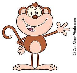 微笑, 特徴, サル, 漫画