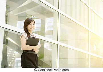 微笑, 経営者, アジア人, 若い女性