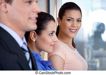 微笑, 経営者, 魅力的, 女性