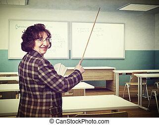 微笑, 老師