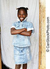 微笑, 若い 女の子, アフリカ
