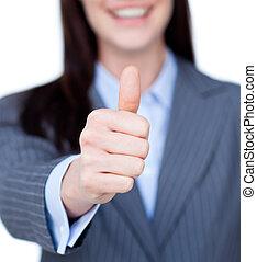 微笑, 若い, 女性実業家