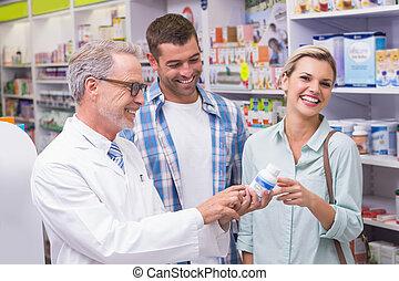 微笑, 薬剤師, 顧客
