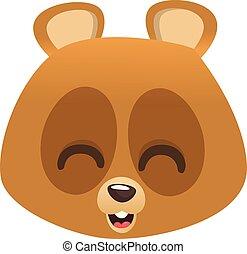 微笑, 頭, 熊, 卡通