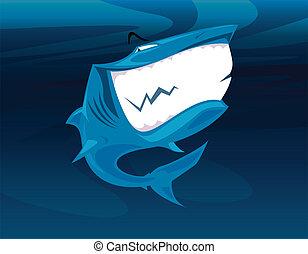 微笑, 鯊魚