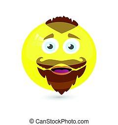 微笑, icon., あなたの, イラスト, design.